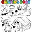 Coloring book with cute dogs — Stock Vector #5293851