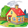 Small family house - Stock Vector