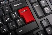 Macro Learn key — Stock Photo