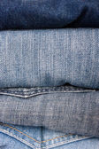 Stack of jeans — Foto Stock