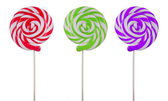 Variety of lollipops on white — Stock Photo