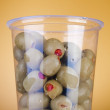 Olives with pepper in box — Stock Photo #4875231