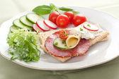 Dietetic sandwich crispbread — Stock Photo