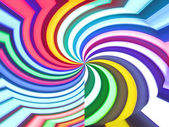 Abstract color rainbow rotation background. — 图库照片