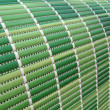 Foto Stock: Green industrial roll pack, stripped texture closeup