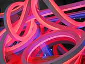 Abstract plastic tube construction, industry details. — Stock Photo