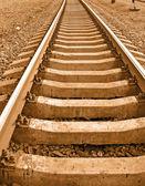 黄色金属铁路运输概念 — 图库照片