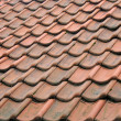 Abstract red tiled roof, home waterproof material — Stock Photo