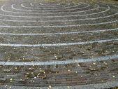 螺旋砖街多样性背景,古老的石头 — 图库照片