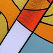 Colorful glass diversity, stained-glass background texture close — Stock Photo