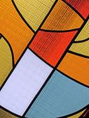 Färgstarka glas mångfald, målat glas bakgrundsstruktur nära — Stockfoto