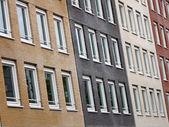 Rozmanitost cihlové budovy, městské výstavby — Stock fotografie