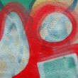 Abstract color graffiti, painted stone background closeup, — Stock Photo