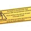 Abstract warning sign isolated. - Foto de Stock