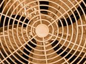Gold ventilator grid, industry details — Stock Photo