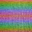 Abstract chaotic rainbow grid background texture — Stock Photo