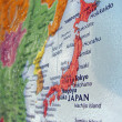 Japan map, tokyo, sendai details, travel. — Stock Photo