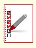 笔记本和标记 — 图库矢量图片