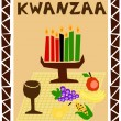 Kwanzaa simple — Stock Vector