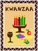Kwanzaa simple — Stock Vector