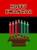 Kwanzaa theme — Stock Vector