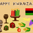 Kwanzaa stuff — Stock Vector