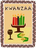 Kwanzaa symbols — Stock Vector