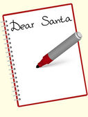 Dear santa — Stock Vector