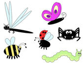 Cute insects — Stock Vector