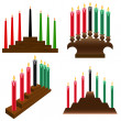 Kwanzaa candlestick - Stock Vector