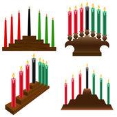 Kwanzaa candlestick — Stock Vector