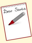 Notepad dear santa — Stock Vector