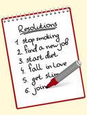 Résolutions de bloc-notes — Vecteur
