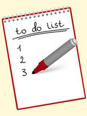Bloco de notas para fazer a lista — Vetor de Stock