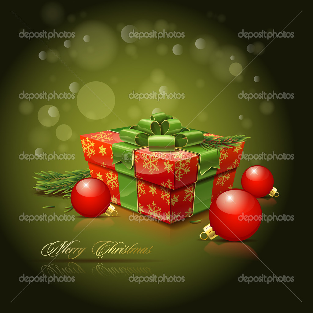 Vector background on the Christmas theme — Stock Vector #4320496