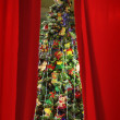 Christmas background with an elegant fur-tree — Stock Photo