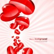 Stock Vector: Valentine's background
