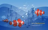 Vector background on a sea theme. — Stock Vector
