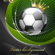 Royalty-Free Stock 矢量图片: Football with a gold crown.