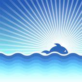 Vector achtergrond op een zee-thema. — Stockvector