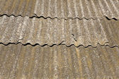 Closeup of a slated roof (as a background or texture) — Stock Photo