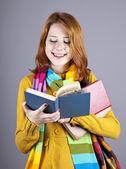 Dziewczyna młoda studentka z książki — Zdjęcie stockowe