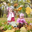 Two sisters play in the park. — Stock Photo #4336723
