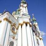 Beautiful St. Andrew's Cathedral in Kiev history taken in Ukrain — Stock Photo #4338294