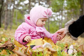 Little child in the park. — Stock Photo