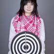 Girl with darts. — Stock Photo #4892559