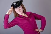 Girl in cap. — Stock Photo