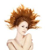 Bella ragazza dai capelli rossi — Foto Stock