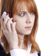 Business women calling by phone. — Stock Photo