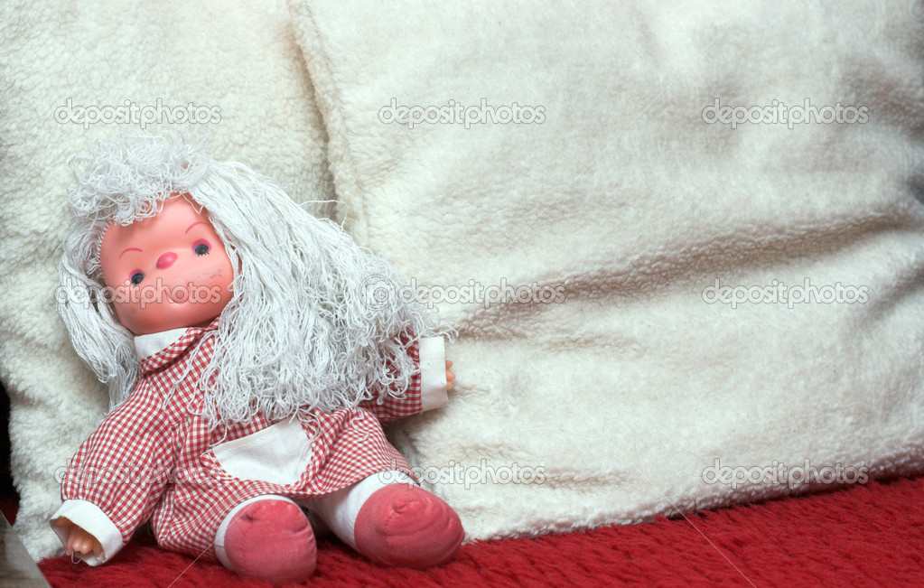Abandoned rag doll, end of childhood — Stock Photo #4085492